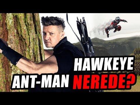 HAWKEYE VE ANT-MAN NEREDE? Avengers Infinity War