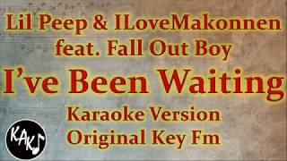 Lil Peep & ILoveMakonnen ft. Fall Out Boy - I've Been Waiting Karaoke Instrumental Original Key Fm Video