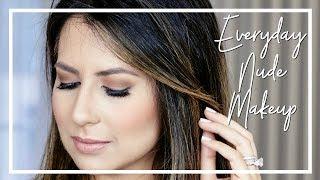 MY EVERYDAY MAKEUP ROUTINE | Nude Eyes & Lips | JASMINA BHARWANI