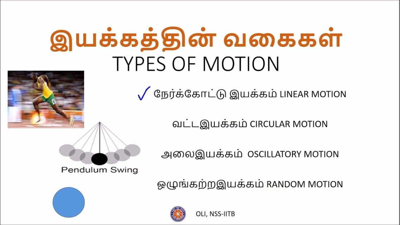 இயக்கம் (Motion) - பாகம் 1 (Part 1) - Class 9 - Tamil Science