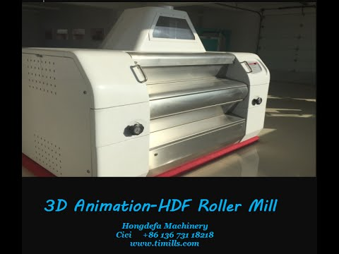 HDF roller mill 3D animation