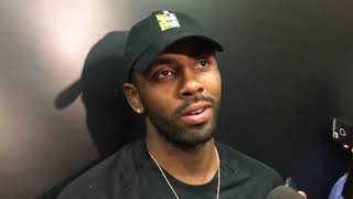 Kyrie Irving reacts to first Celtics