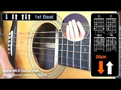 beginners guitar lessons strumming pattern 1 youtube. Black Bedroom Furniture Sets. Home Design Ideas