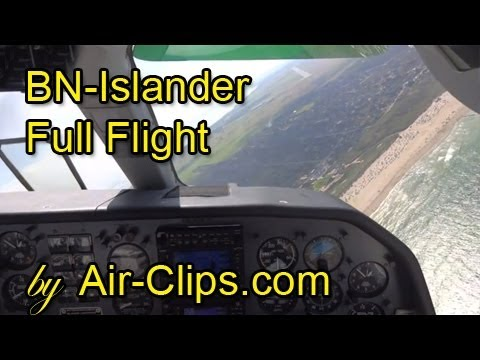 Britten-Norman Islander cockpit, AMAZING: Steepest turn to final ever! [AirClips full flight series]