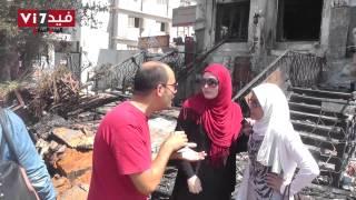 بالفيديو.. مشادات كلامية بين سيدة وفتاة إخوانية أمام مسجد رابعة العدوية