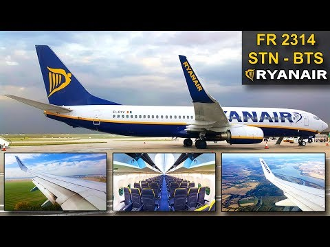 TRIP REPORT | Ryanair | LONDON STANSTED - BRATISLAVA | Boeing 737 SKY INTERIOR
