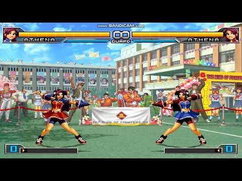 The King Of Fighters 2002 Unlimited Match Asamiya Athena Vs Asamita Athena Fight Ryona Dance 1