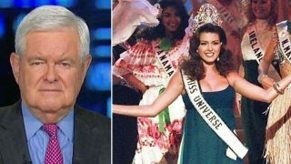 Gingrich: Miss Universe attack may blow up in Clinton