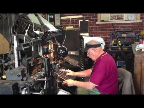 Linotype machine, Printing Press, typesetting, 1892 - 1970