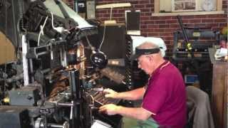 Linotype machine, Printing Press, typesetting, 1892 - 1970 CLassic Machinery