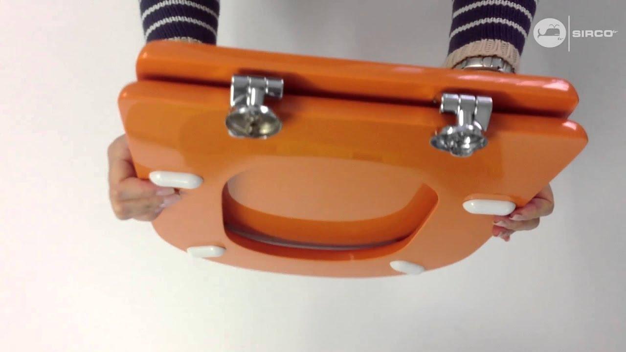 Sedile Fiorile Ideal Standard.Sedile Copriwc Ideal Standard Serie Fiorile Arancio Ral 2011 Youtube