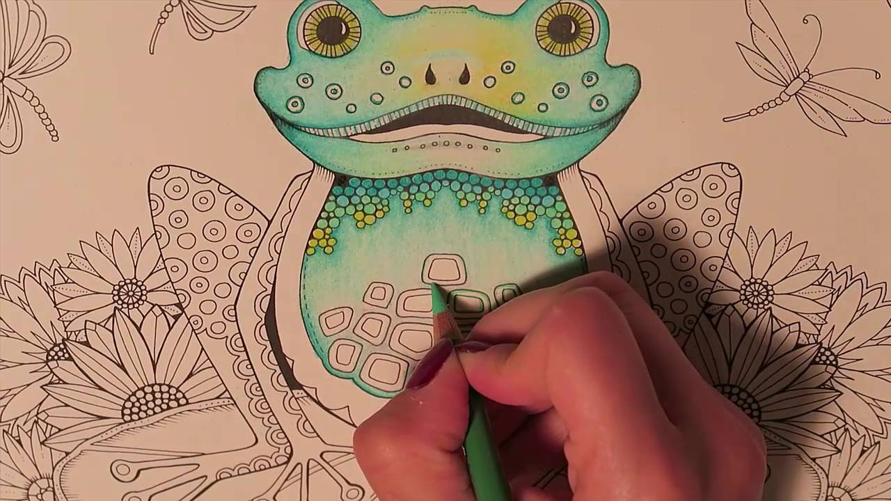 Book colour names - Enchanted Forest Coloring Book The Frog Part 1 2 With Colour Names