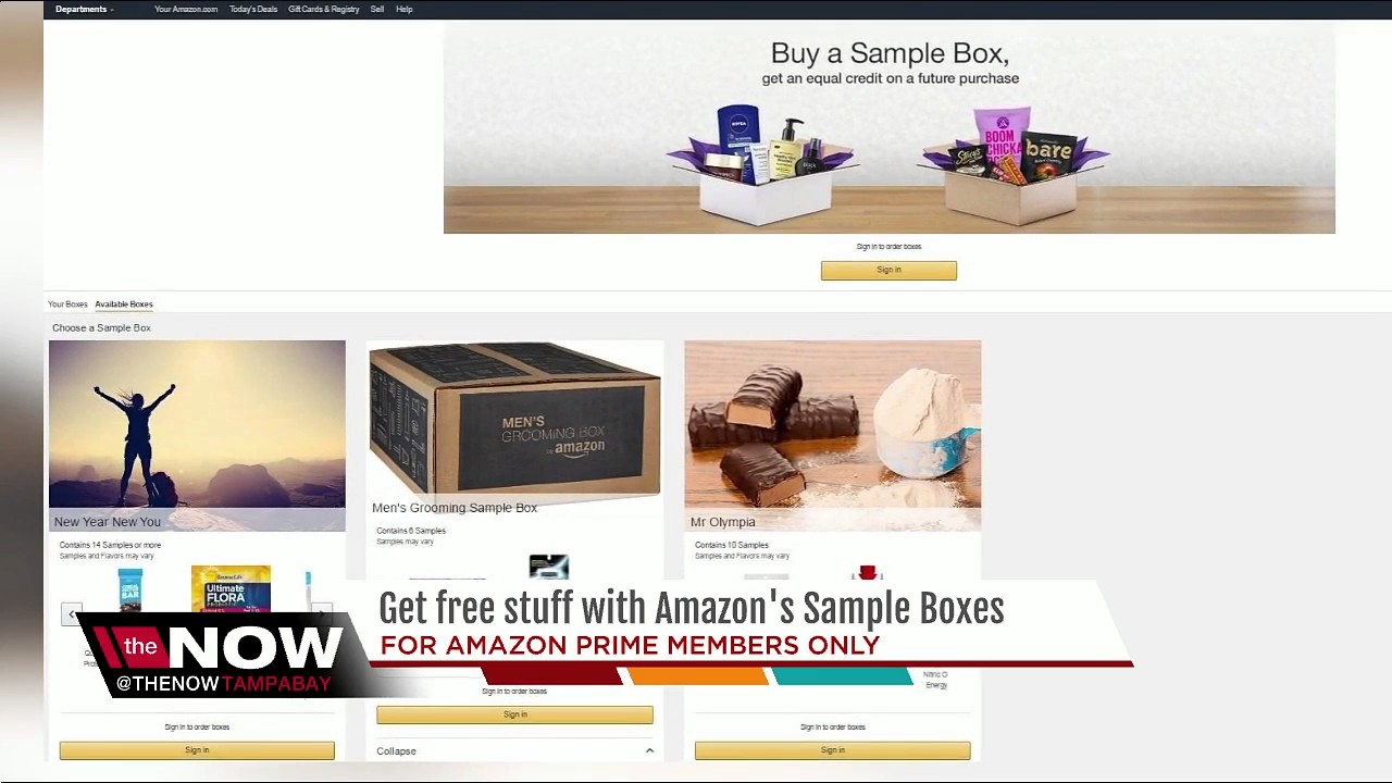 Get free stuff with Amazon's sample boxes