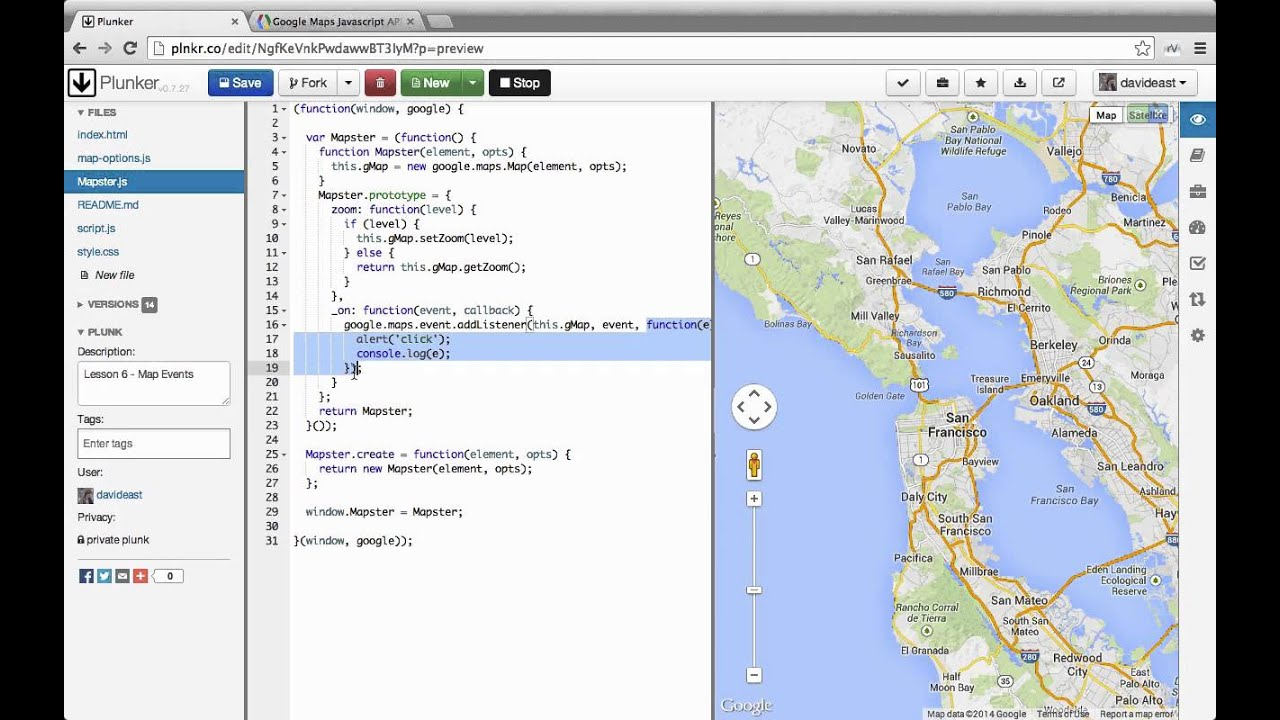 Custom interactive maps with the google maps api 06 map events youtube custom interactive maps with the google maps api 06 map events gumiabroncs Image collections