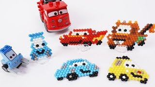 Disney Cars Toys  - Aqua Beads Making Video for Kids