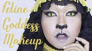 Feline Goddess Makeup Tutorial | NYX Big Thing Makeup Challenge | allseebee