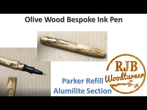 Olive Wood Bespoke Ink Pen - Uses A Parker Refill