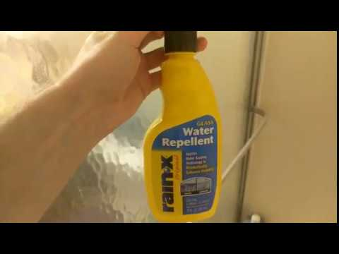 Rain-X On Shower Doors To Help Avoid Water Spots And A Dirty Tub