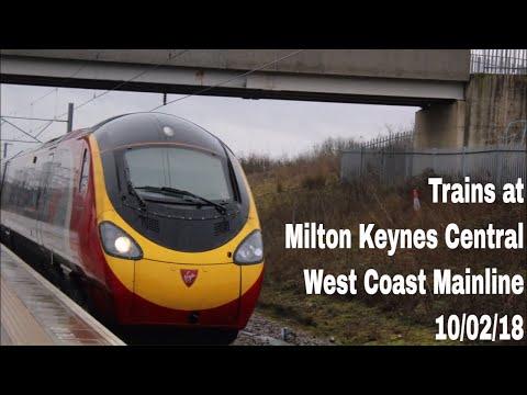 Trains at Milton Keynes Central, WCML | 10/02/18