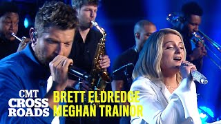 Brett Eldredge & Meghan Trainor Perform 'Islands In the Stream' | CMT Crossroads