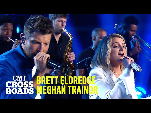 Brett Eldredge & Meghan Trainor Perform 'Islands In the Stream' | CMT Crossroads
