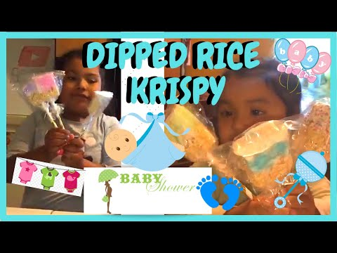 DIY How To Make Dipped Rice Krispy For A Baby Shower /candy Table