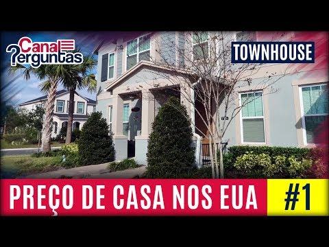 Preço de casa na região de Orlando nos EUA #1. TownHouse ✔