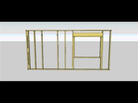 Wall Frame Components and Construction Sequence