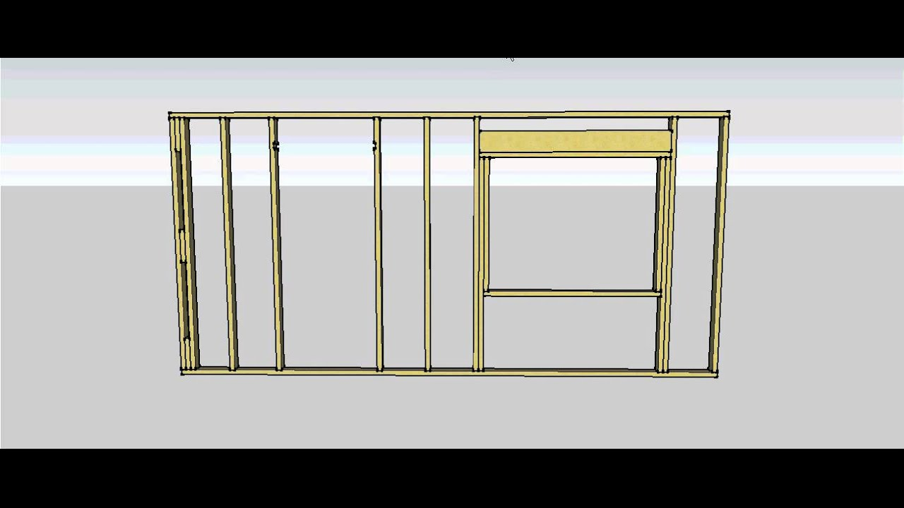 Wall Frame Components and Construction Sequence - YouTube