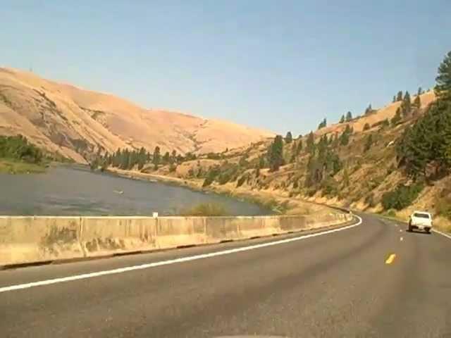 Driving to Kooksia from Lewiston, Idaho On Hiway 12