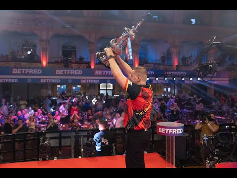 """Dimitri van den Bergh on Matchplay return: """"I had goosebumps lifting the trophy in front of crowd"""""""