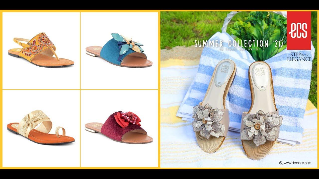 ECS Shoes Women Flat Sandals 2020-21