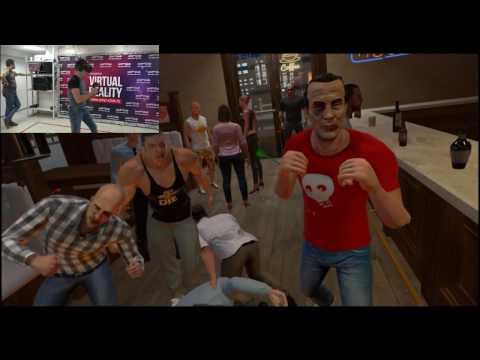 Избили в баре  (Drunkn Bar Fight htc vive)