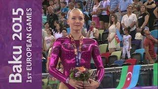 Lieke Wevers wins a closely contested Women's Beam Final | Artistic Gymnastics | Baku 2015