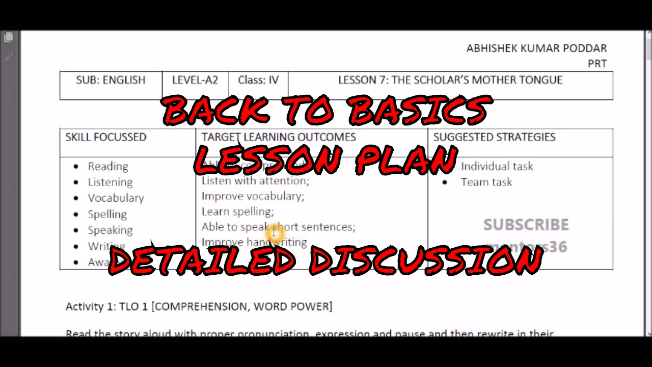 back to basics lesson plan activity plan how to make b2b lesson
