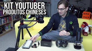 Montei um KIT YOUTUBER com Produtos Chineses? | Microfone, Headset, Webcam, Placa de Captura e Mais!