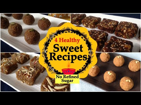 Healthy Homemade Sweets Recipes | No Refined Sugar | Diwali Special | मिठाई रेसिपी | In Hindi