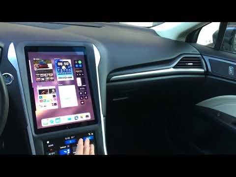 Ford Fusion IPad Pro In Dashboard Night Mode