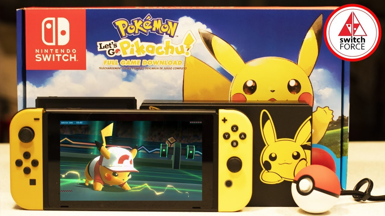 Pokemon Let S Go Nintendo Switch Bundle Unboxing Pokemon Let S Go