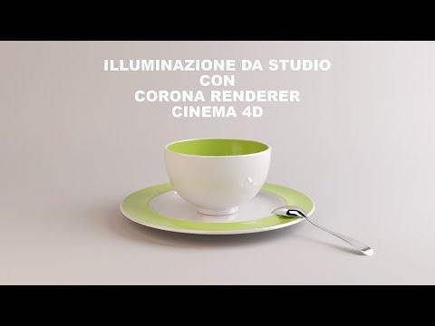 Illuminazione da studio con corona renderer