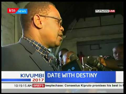 Nairobi Governor Evans Kidero casts his vote in Pumwani