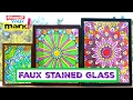 How to: Faux Stained Glass Mandalas