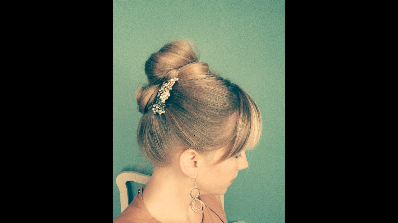Party Hair Tutorial Updo Inspired By Audrey Hepburn Youtube
