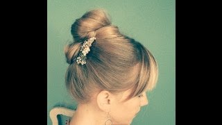 Party Hair Tutorial Updo - Inspired by Audrey Hepburn Thumbnail