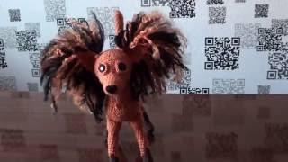 DIY  Вязаная собачка амигуруми / Knitted amigurumi dog