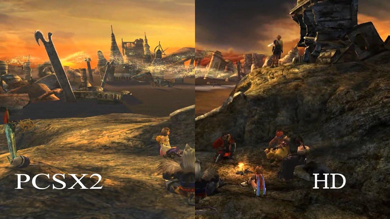 Final Fantasy X SD Vs HD Vs PCSX2 Comparison YouTube