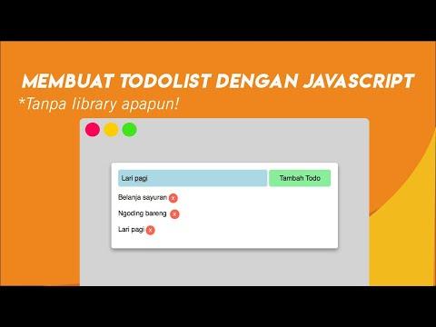 Tutorial  membuat Todolist Sederhana dengan Javascript thumbnail