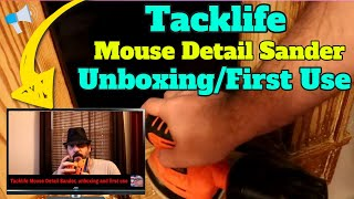 Tacklife Mouse Detail Sander, unboxing and first use