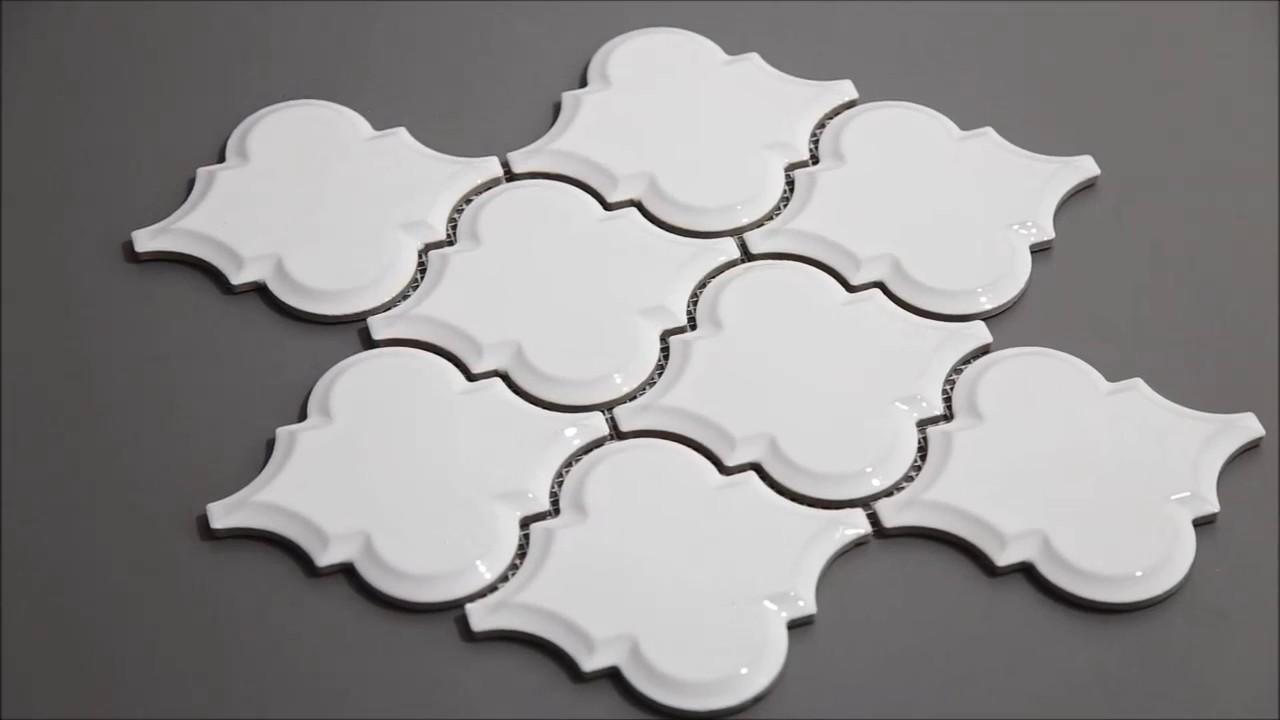- Beveled Whisper White Arabesque Mosaic Tile - YouTube