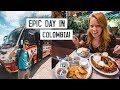 Trying Colombia's MOST FAMOUS DISH! + Bus Ride to Guatapé 😍🚌